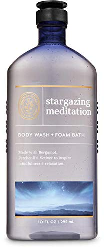 Bath and Body Works Body Care Aromatherapy - Body Wash + Foam Bath - 10 fl oz - Many Scents! (Stargazing Meditation - Bergamot Patchouli Vetiver)