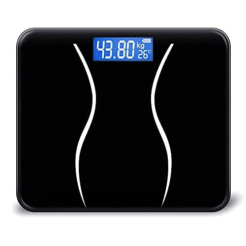 Báscula de baño LCD electrónica digital de 180 KG, báscula humana inteligente electrónica de medición de peso precisa