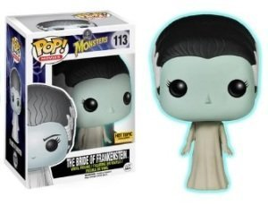 POP Funko Movies #113 The Bride of Frankenstein Hot Topic Exclusive Glow in The Dark by
