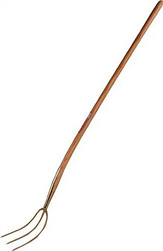Streugabel erntekönigmit 3zinkig doré 135 cm manche laqué en acier forgé