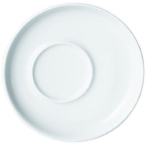 Kahla - Five Senses Espresso - Sous-Tasse à Expresso - Porcelaine - Blanc - 11 cm - Lot de 6