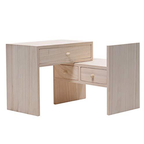 dxjsf Librería Pequeña Moderno Creativo Solid Wood Combination Bookshelf Desk Desk Storage Multifuncional Estantería Estante Estudiante Estante Estante Estante De Estante De Exhibición