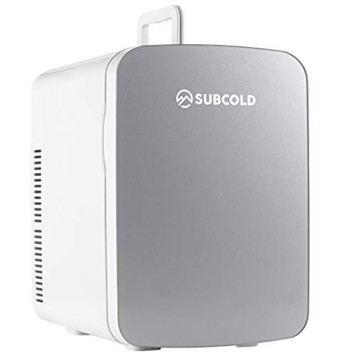 Subcold - Kleiner Mini-Kühlschrank und Wärmer Ultra 15 - 15 Liter, Kompakt, Tragbar & Leise, AC + DC Stromversorgungsoptionen (Grau)