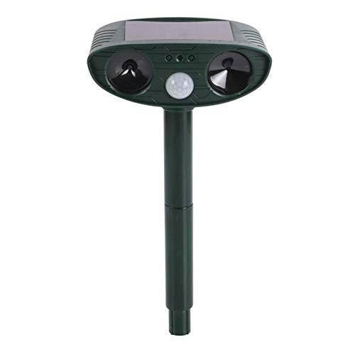KTSM-Stop-T Bird expeller Solar Animal Driver Outdoor Driver Garden Orchard Bird Repeller Infrared Sensor Ultrasonic Drive Device Suitable for farm (Color : Dark green)