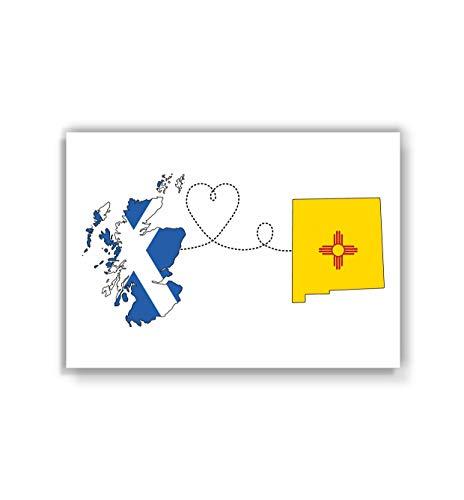 Scotland to New Mexico Poster - Travel print