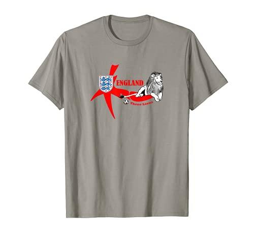 Three Lions England - Balón de fútbol, diseño de la bandera británica Camiseta