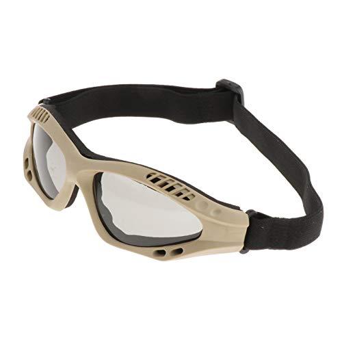 Nobranded Gafas tácticas Militares para Deportes al Aire Libre, Gafas de con Resistencia a la Intemperie, Gafas de Tiro con protección UV para - de la Lente