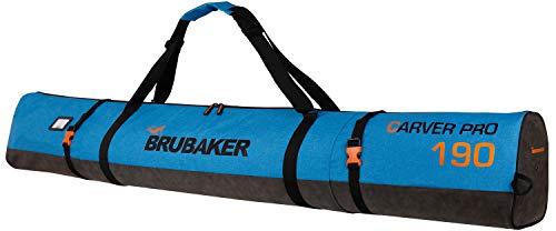 Brubaker Carver Performance Skisack für 1 Paar Ski und Stöcke - Blau meliert Schwarz - 190 cm