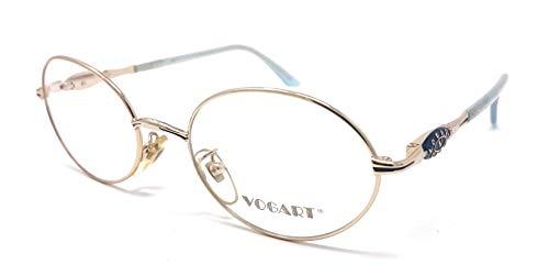 Vogart 3515 339 - Gafas de vista ovaladas para mujer, color dorado y celeste