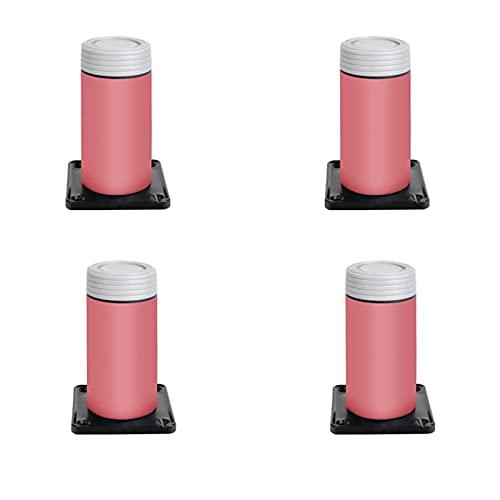 STCK Patas para Muebles Redondas,Patas Regulables para Muebles De Cocina O Baño,para Armarios,Sofás,Sillones (Color : Rojo, Tamaño : 10cm/4inch)