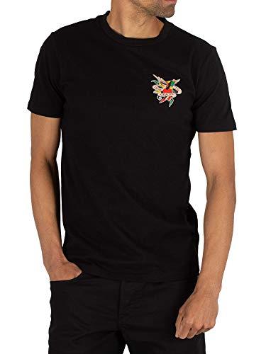 Ed Hardy Herren Bis zum Tod T-Shirt, Schwarz, L