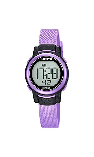 Calypso Damen Digital Quarz Uhr mit Plastik Armband K5736/4