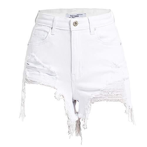Pantalones cortos de mezclilla para mujer Pantalones cortos de mezclilla calientes atractivos europeos y americanos Pantalones cortos de mezclilla de playa elásticos de vacaciones sueltos con 3XL