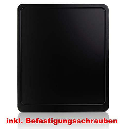 Kennzeichenverstärker Motorrad Kennzeichenhalter SCHWARZ MATT Aluminium 180x200 inkl. BEFESTIGUNGSSCHRAUBEN, Neu