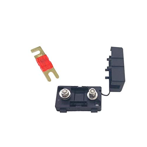 LZWOZ 80A ANS Small Fork Bolt Car Fuse DC heftruck Modified Zekeringsklem 20A 30A 40A 50A 60A 100A 150A 200A auto vrachtwagen Bus Insurance (Color : 40A fuse with box)