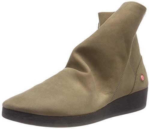 Softinos Damen AYO411SOF Nubuck Leather Stiefeletten, Beige (Smoke 003), 42 EU