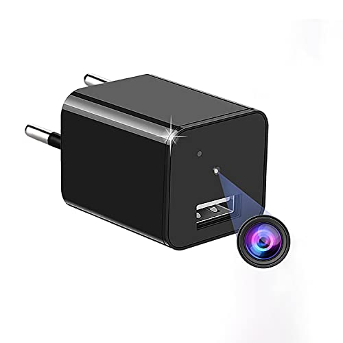 Cámaras Espía Mini Cámara Espía Oculta 1080P HD USB Cámara Vigilancia de Seguridad Detección de Movimiento grabación de Bucle