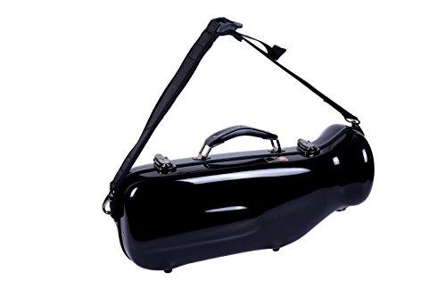 Crossrock Trumpet Case Fiberglass Hardshell with Backpack Straps (CRF1000TRBK1),Black