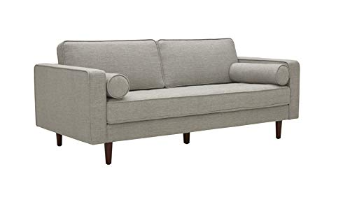 Amazon Brand – Rivet Aiden Mid-Century Sofa with Tapered Wood Legs, 74'W, Light Grey