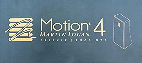 MartinLogan Motion 4 Compact Bookshelf Speaker with Wall-Mount (Piano Black, Each)
