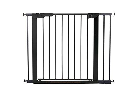 BabyDan Premier Türschutzgitter / Treppenschutzgitter zum Klemmen, 92,5 - 99.8 cm, - hergestellt in Dänemark + TÜV/GS geprüft, Farbe: Schwarz