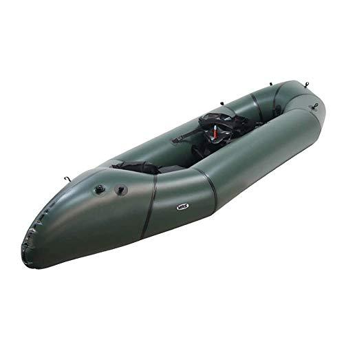 JNWEIYU Doble Kayak Inflable, Micro-Aventura Rafting Mochila, Conveniente for los Deportes acuáticos como el Rafting, Aventura, todavía Juego de Agua, etc. (Color : Chrome)