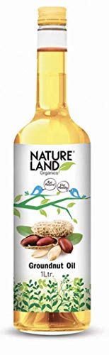 Natureland Organics Groundnut Oil / Peanut Oil 1 LTR - Cold Pressed
