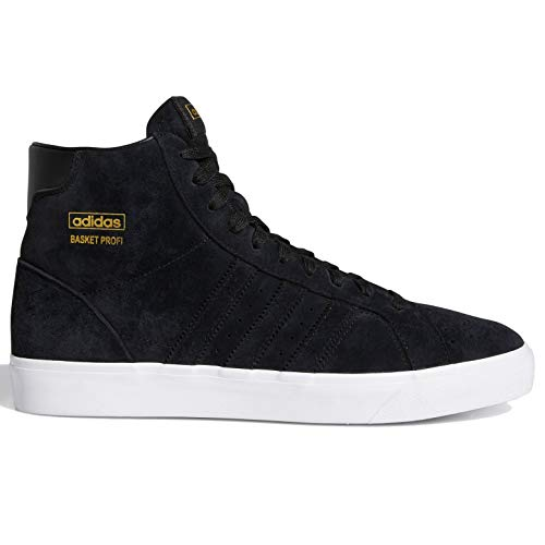 adidas Originals Basket Profi Hombres Fw3105, Negro (negro, dorado metálico (Black/Black/Gold Metallic)), 41.5 EU