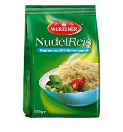 Wurzener Nudel Reis, Teigware aus 100% Hartweizengrieß, 2 Beutel je 400g