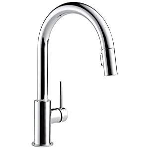 Delta Faucet Trinsic Single-Handle Kitchen Sink Faucet with Pull Down Sprayer