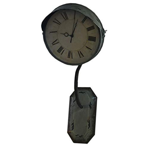 Décor Mural \ Frontons muraux Décoration Murale, Loft Style Industriel Horloge en Fer forgé Tenture Murale Lampe Styling Tenture Murale Horloge Murale Bijoux Pendentif