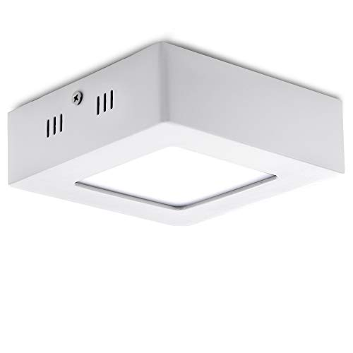 Greenice | Plafón LED Cuadrado Superficie 120Mm 6W 470Lm 30.000H | Downlight...