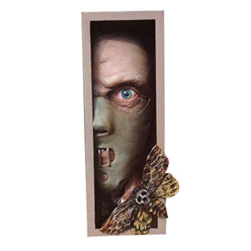 LEFUYAN Estante de livros personalizados, estante divertida de terror para colecionar álbuns de CDs, revistas, livros pesados