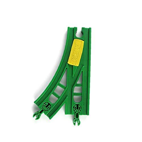 Interruptor 1PC pista de madera de tren de la placa giratoria de la estación de tren de accesorios curvo pistas de interruptores de expansión juguete clásico compatible tren Hobby Marcas (B)