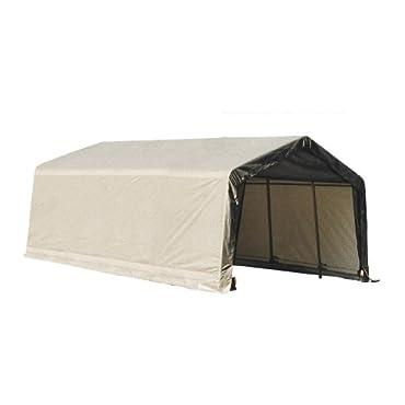 ShelterLogic 73432 Grey 12'x20'x10' Peak Style Shelter