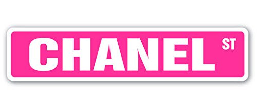 """Cortan360 CHANEL Street Sign Childrens Name Room Sign