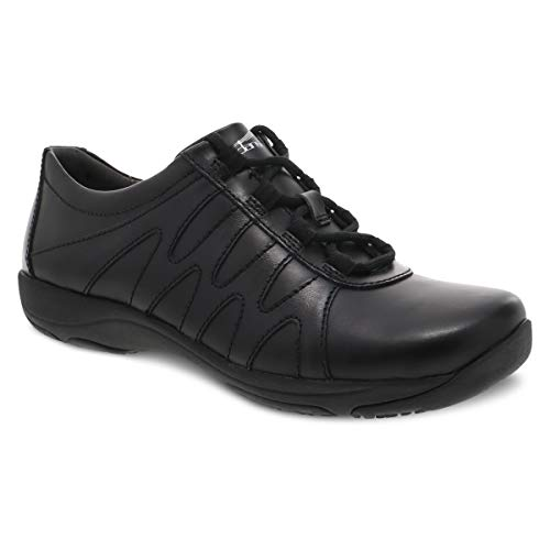 Dansko Women's Neena Black Leather Comfort Work Shoe 9.5-10 M US