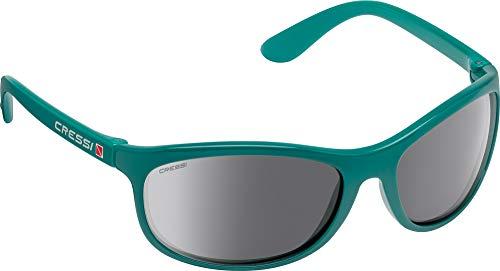 Cressi Rocker Floating Sunglasses Gafas de Sol Deportivas Flotantes con Estuche Rígido, Adultos Unisex, Turquesa-Lentes Espejadas Plata, Un Tamaño