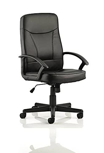 DYNAMIC Blitz Executive Bonded Leder Stuhl mit Armlehnen, schwarz
