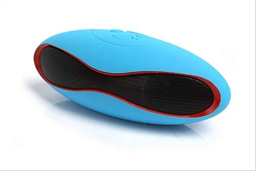 Mirage Altavoces Mini Bluetooth Altavoz Manos Libres portátil Incorporado un Receptor de Audio USB Mic Boom Box Apoyo TF Tarjeta Rosa (Color : Blue)
