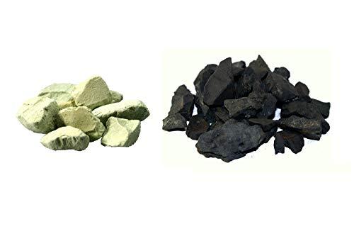 MyHomeLux® Zeolith und Schungit, Wassersteine, 200g+200g, MIT QUALITÄTSGARANTIE!!!