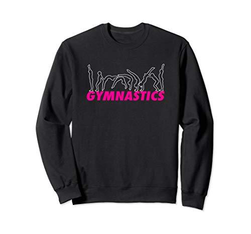 Lustige Mädchen Gymnastik Flipping auf Handspring Sweatshirt