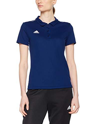 adidas Damen CORE18 Polo W Shirt, Dark Blue/White, L