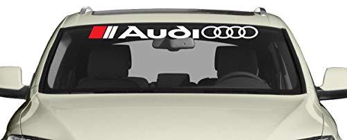 Artstickers4U Windschutzscheiben Heckscheiben passt zu Audi Auto Car 100cm Aufkleber / Plus Schlüsselringanhänger aus Kokosnuss-Schale / Auto racing Tuning Hoonigan A1 A3 A5 A6 TT Q3 Q5 Quattro