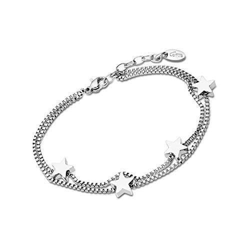 LOTUS Style Edelstahl Armband LS1997-2/1 Damen Schmuck silber D2JLS1997-2-1 ein schönes Geschenk zu Weihnachten, Geburtstag, Valentinstag für die Frau