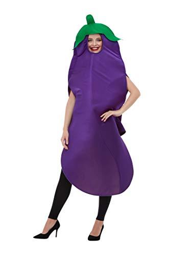 Smiffys Aubergine Costume Disfraz de berenjena, color morado, Talla única (50717)