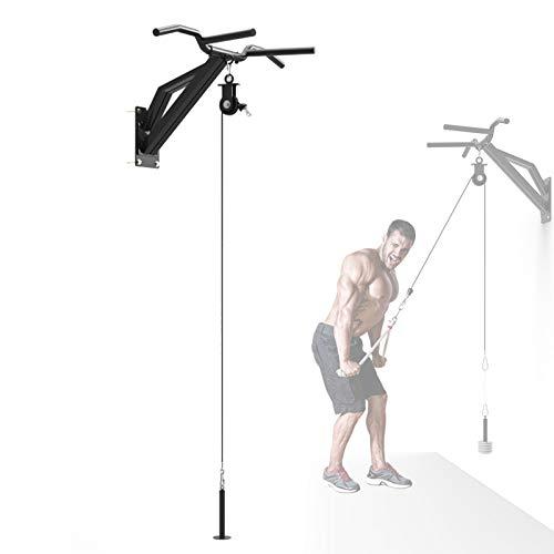 Multifunción Fitness Polea Sistema De Fijación De La Máquina, Equipo De Musculacion Entrenamiento con Cadena Sólida Pin De Carga para Fuerza del Brazotriceps