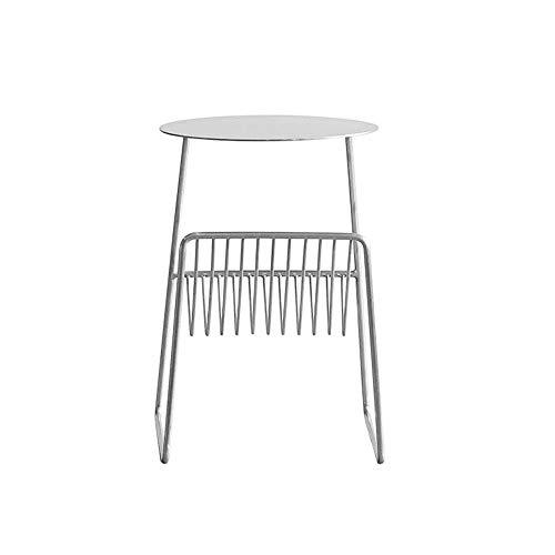 Tables HAIZHEN Pliable Sofa d'appoint Salon Mini Basse en Fer forgé carrée de Rangement multifonctionnelle, 37 * 31 * 40cm (4 Couleurs) Stations de Travail informatiques