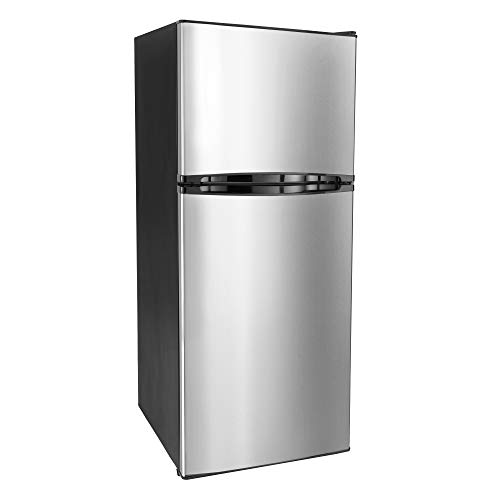 RecPro RV Refrigerator Stainless Steel | 9.8 Cubic Feet | 110-120 Volt | Right-Hand Door | Low...