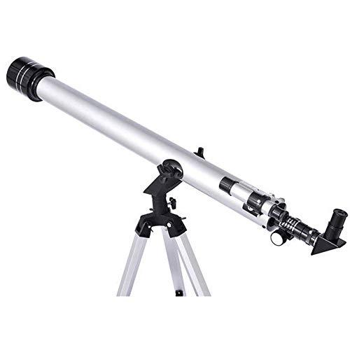 TINKOU Astronomisches Teleskop, 675-fach zoomendes HD-Landschaftsobjektiv-Monokularteleskop mit 90-Grad-Zenith-Stativspiegel für Anfänger, Vogelbeobachtung, Sternbeobachtung, Silber